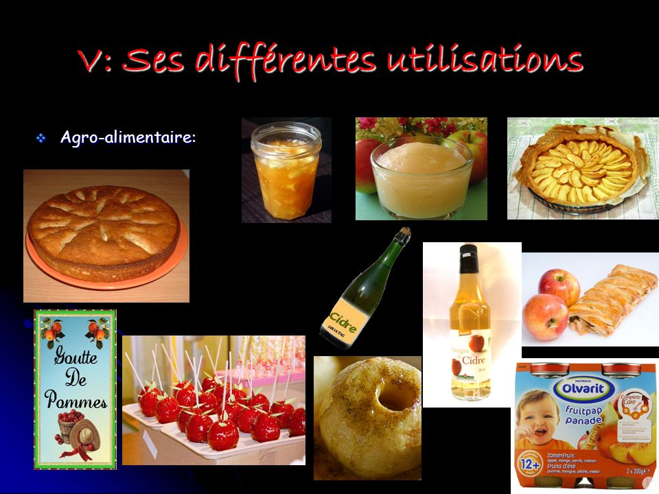 V: Ses différentes utilisations Agro-alimentaire: Agro-alimentaire: