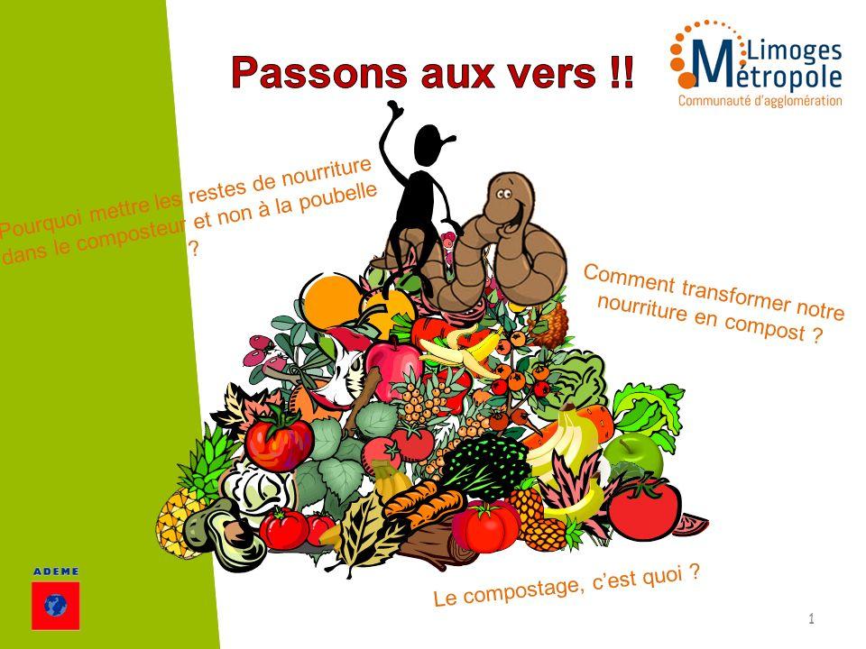 Le compostage, cest quoi ? Pourquoi mettre les restes de nourriture dans le composteur et non à la poubelle ? Comment transformer notre nourriture en