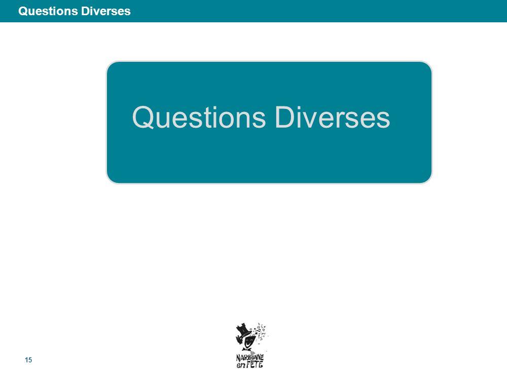 Questions Diverses 15 Questions Diverses