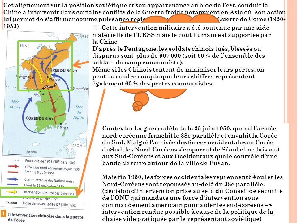 Rappel des opérations militaires : retour sur la carte 1 Fin novembre, certaines unités occidentales atteignent le Yalu, fleuve de la frontière chinoise.