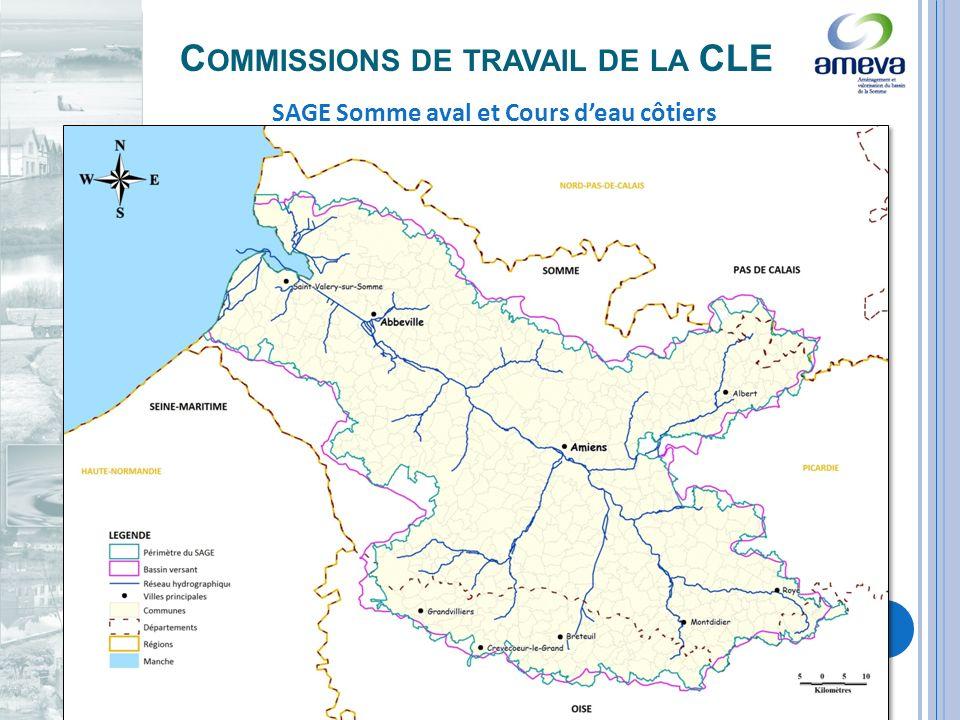 C OMMISSIONS DE TRAVAIL DE LA CLE SAGE Somme aval et Cours deau côtiers