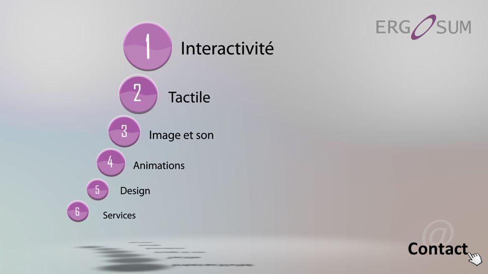 Ergo ACTIV Wall Les solutions Ergo Activ sont des dispositifs de projection interactifs qui grâce à un système de détection de mouvements vont modifier les images projetées en fonction de la présence et des gestes des utilisateurs.
