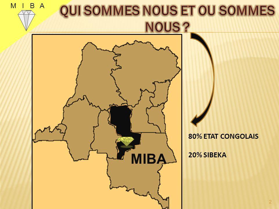 80% ETAT CONGOLAIS 20% SIBEKA 2