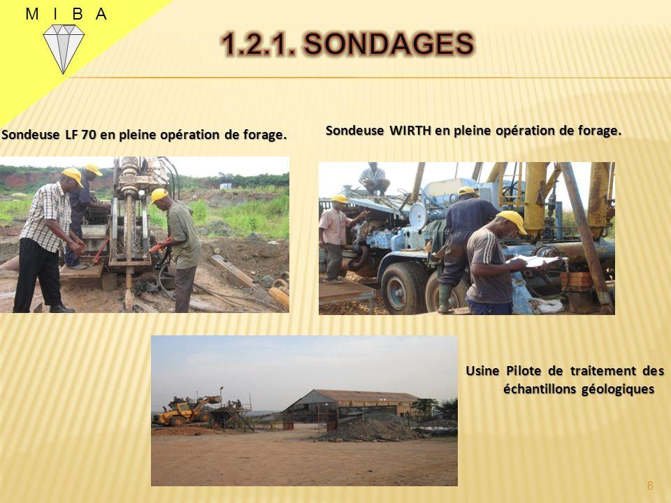 M I B A Sondeuse LF 70 en pleine opération de forage.