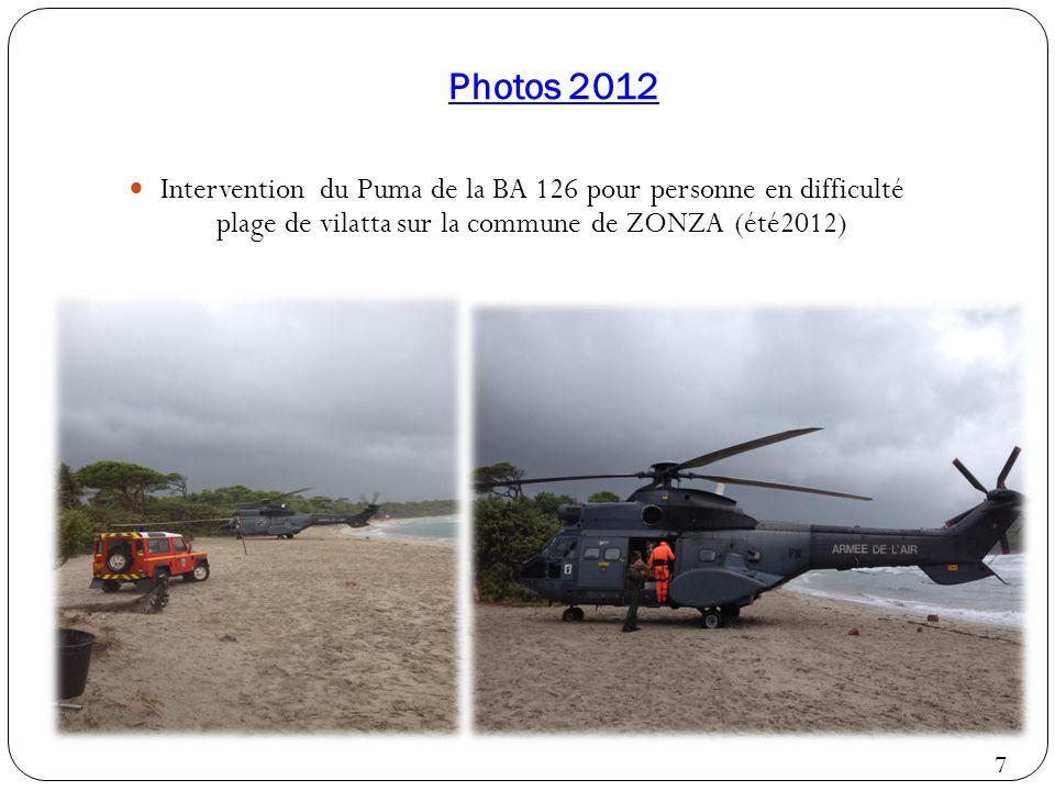 Photos 2012 Intervention du Puma de la BA 126 pour personne en difficulté plage de vilatta sur la commune de ZONZA (été2012) 7