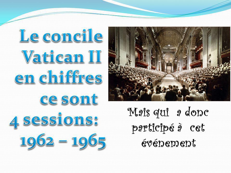 Composition Pères étaient présents à l ouverture du Concile.