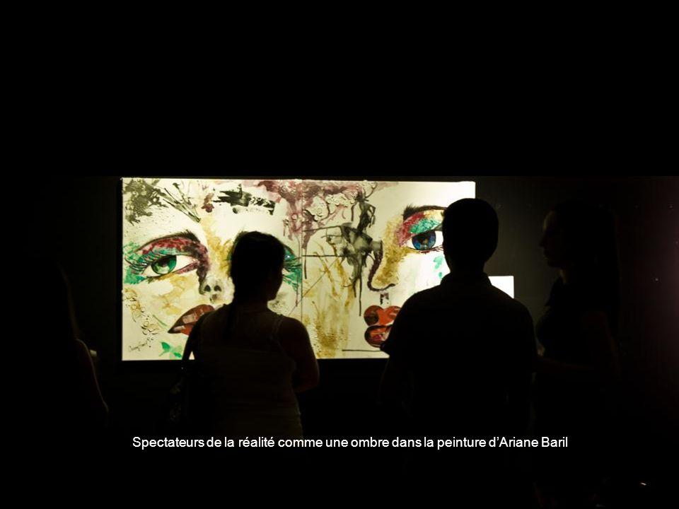 Spectateurs de la réalité comme une ombre dans la peinture dAriane Baril