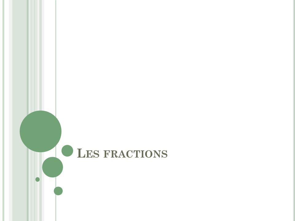 L ES FRACTIONS