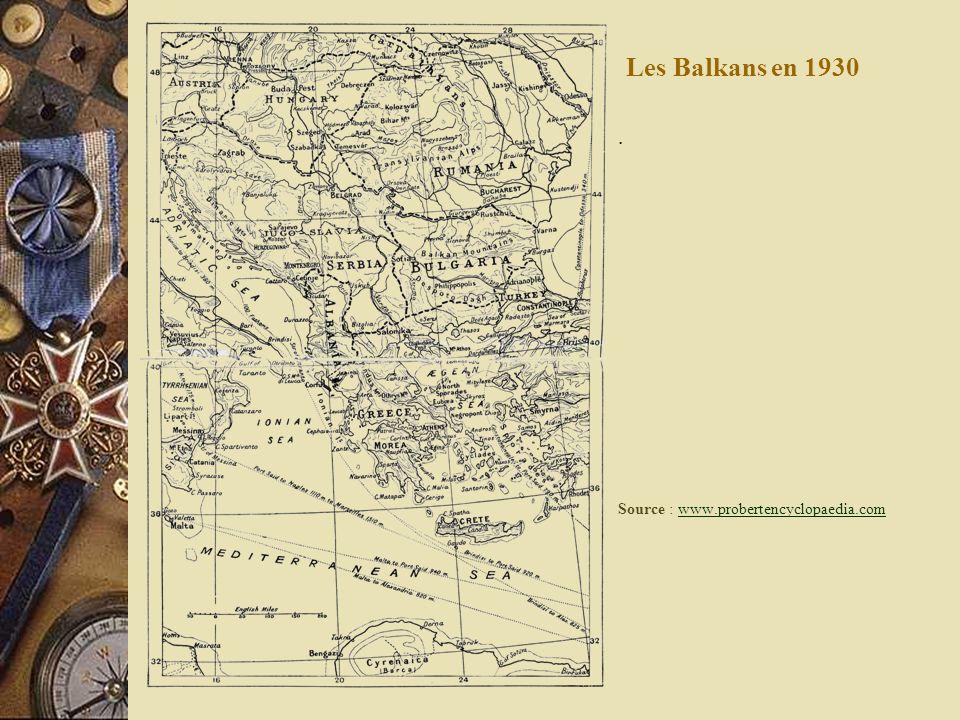 Les Balkans en 1930. Source : www.probertencyclopaedia.comwww.probertencyclopaedia.com
