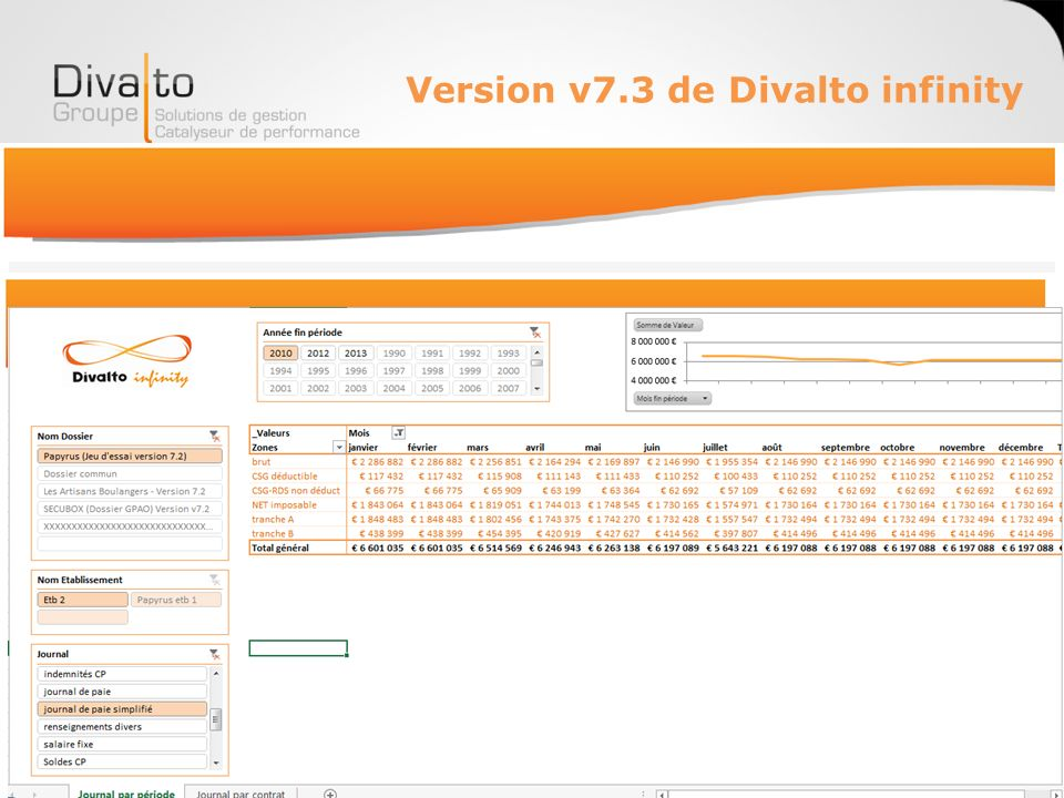 Version v7.3 de Divalto infinity Paie & RH