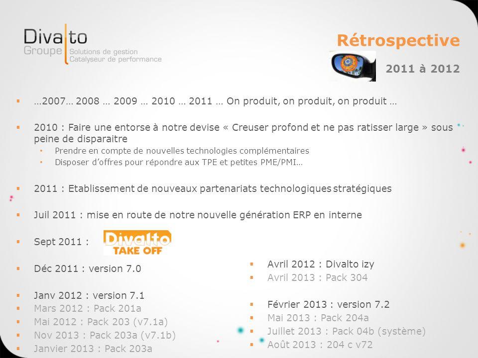 Rétrospective …2007… 2008 … 2009 … 2010 … 2011 … On produit, on produit, on produit … 2010 : Faire une entorse à notre devise « Creuser profond et ne
