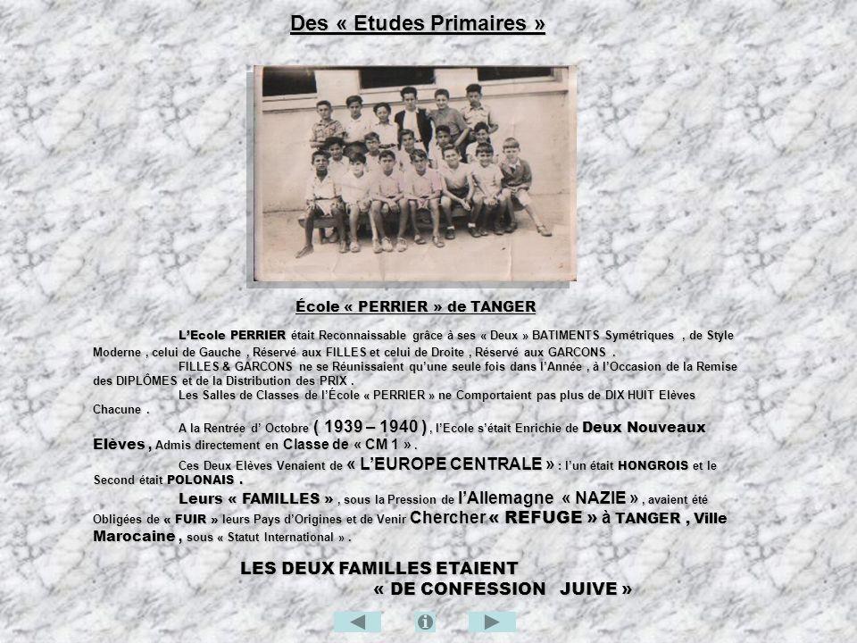 ycée Regnault et les Tangérois de Souche Le Lycée Regnault et les Tangérois de Souche Le « Lycée Regnault » de TANGER était une Institution Française, Dispensant un Enseignement Supérieur « ECONOMIQUE et COMMERCIAL », Dispensant un Enseignement Supérieur « ECONOMIQUE et COMMERCIAL », Conduisant, après « QUATRE » Années de Formation Spécialisée, à lObtention dun : Conduisant, après « QUATRE » Années de Formation Spécialisée, à lObtention dun : « DIPLÔME d ETUDES COMMERCIALES ».