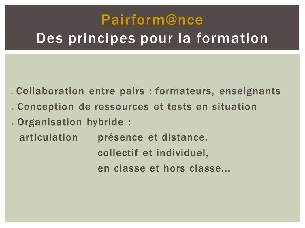 Une demande de l académie de Lyon (Dafop) volonté « d améliorer » les stages de formation continue, en partant de stages existants, en rajoutant une dimension « à distance ».