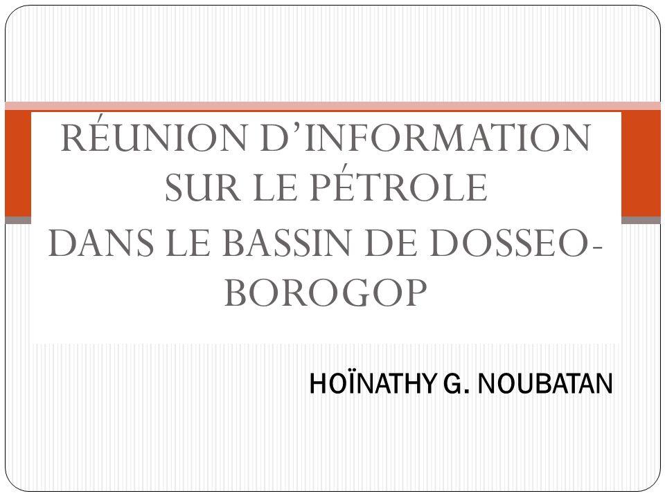 RÉUNION DINFORMATION SUR LE PÉTROLE DANS LE BASSIN DE DOSSEO- BOROGOP HOÏNATHY G. NOUBATAN