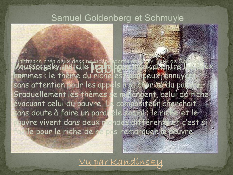 Tableau 6 Samuel Goldenberg et Schmuyle Hartmann créa deux dessins indépendants de Juifs issus de Sandomir (ville polonaise): un riche et un autre, pa