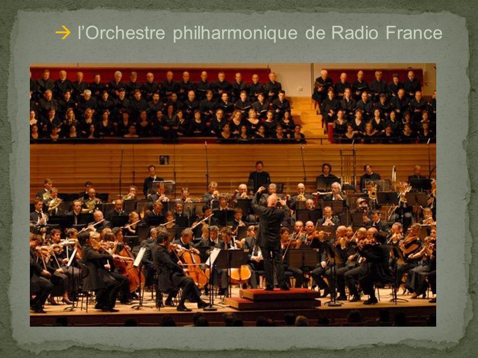 lOrchestre philharmonique de Radio France