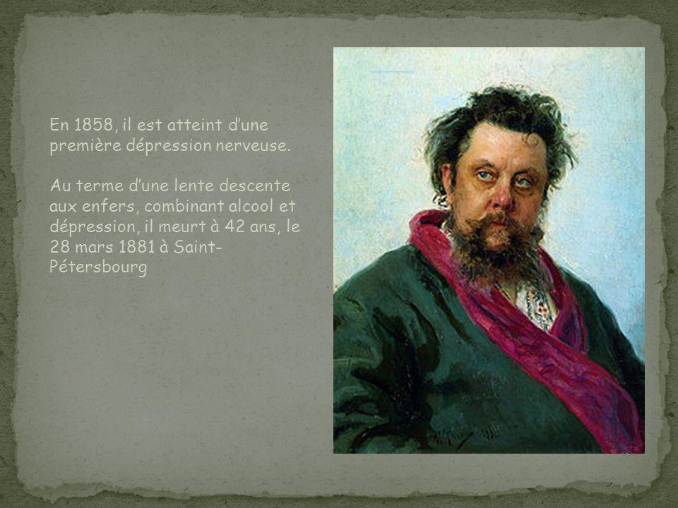 En 1858, il est atteint dune première dépression nerveuse. Au terme dune lente descente aux enfers, combinant alcool et dépression, il meurt à 42 ans,