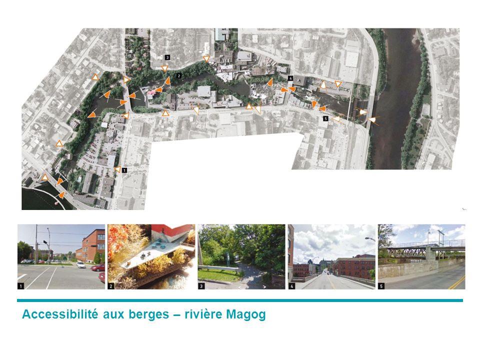 Accessibilité aux berges – rivière Magog