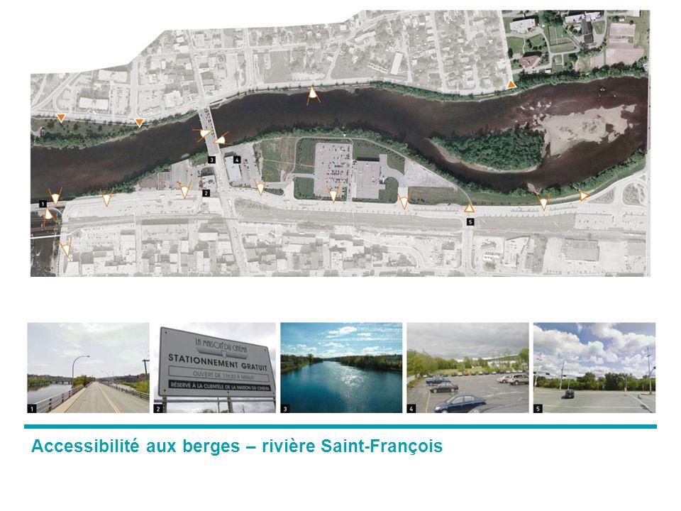 Accessibilité aux berges – rivière Saint-François