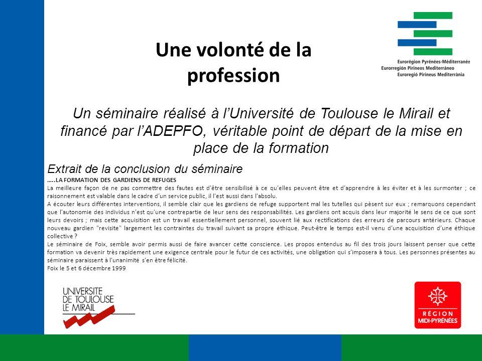 Un séminaire réalisé à lUniversité de Toulouse le Mirail et financé par lADEPFO, véritable point de départ de la mise en place de la formation Extrait