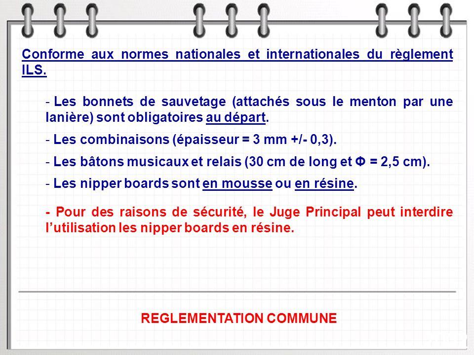 3/30 2002 REGLEMENTATION COMMUNE 1 - EQUIPEMENT / SIGNALISATION Conforme aux normes nationales et internationales du règlement ILS.