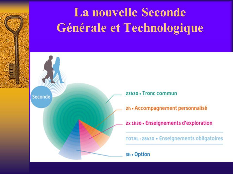 La nouvelle Seconde Générale et Technologique