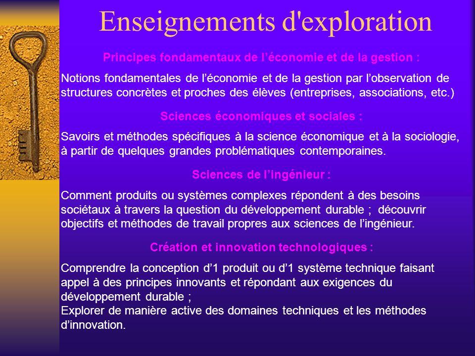 Enseignements d'exploration Principes fondamentaux de léconomie et de la gestion : Notions fondamentales de léconomie et de la gestion par lobservatio