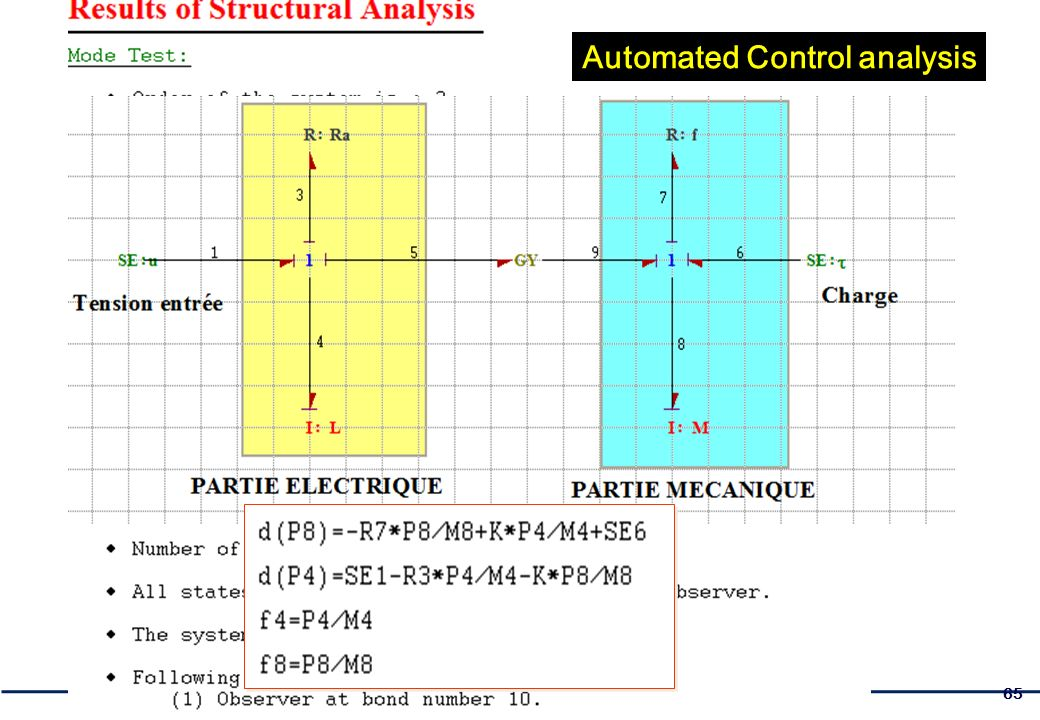 65 Automated Control analysis