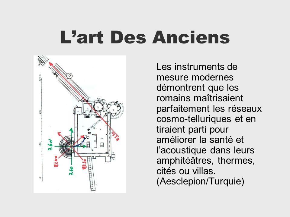 Lart Des Anciens Les instruments de mesure modernes démontrent que les romains maîtrisaient parfaitement les réseaux cosmo-telluriques et en tiraient