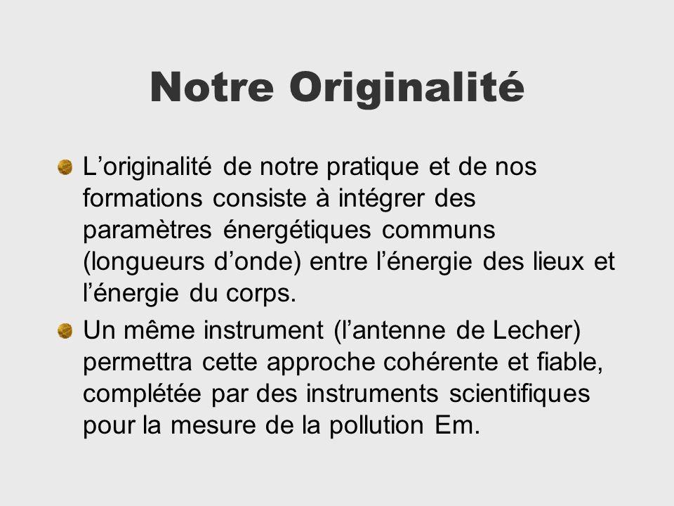 Notre Originalité Loriginalité de notre pratique et de nos formations consiste à intégrer des paramètres énergétiques communs (longueurs donde) entre