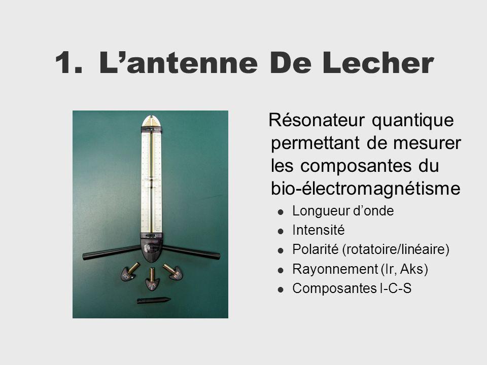 1.Lantenne De Lecher Résonateur quantique permettant de mesurer les composantes du bio-électromagnétisme Longueur donde Intensité Polarité (rotatoire/