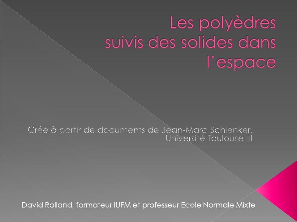 David Rolland, formateur IUFM et professeur Ecole Normale Mixte