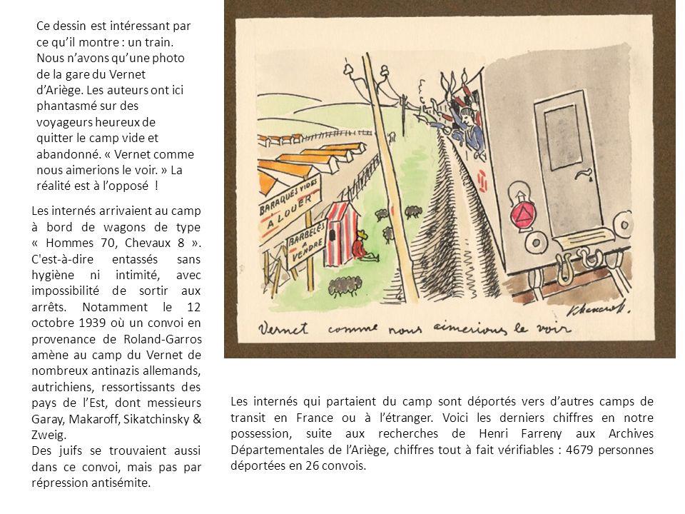 Les internés arrivaient au camp à bord de wagons de type « Hommes 70, Chevaux 8 ».