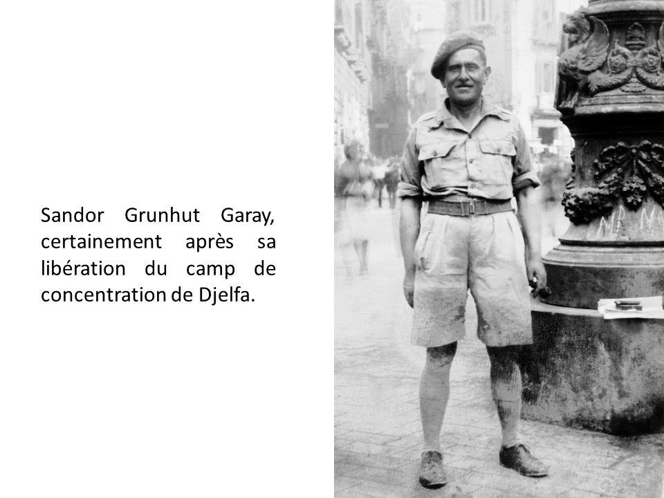 Sandor Grunhut Garay, certainement après sa libération du camp de concentration de Djelfa.