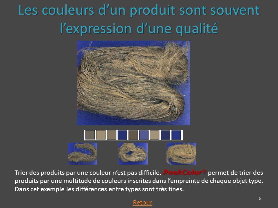 5 PeekColor ® Trier des produits par une couleur nest pas difficile.
