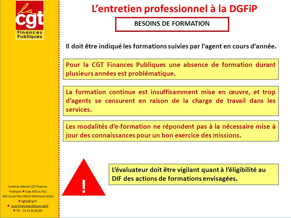 Lentretien professionnel à la DGFiP La notification du Compte Rendu À compter de la notification du CREP lagent dispose de 8 jours pour le signer afin dattester quil en a pris connaissance.
