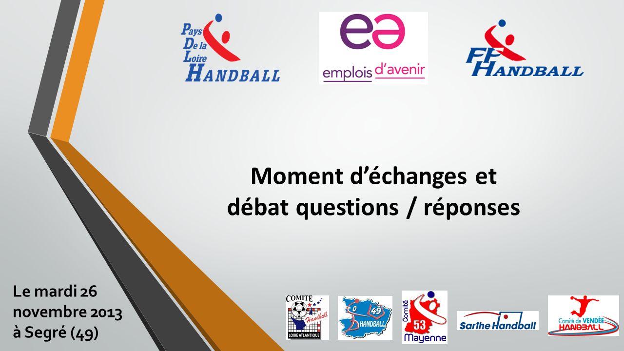 Moment déchanges et débat questions / réponses Le mardi 26 novembre 2013 à Segré (49)