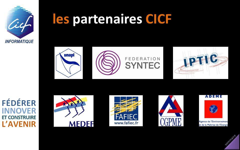 sommaire les partenaires CICF