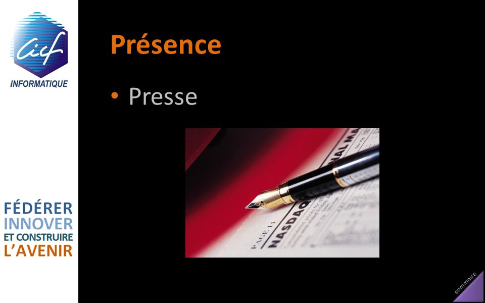 sommaire Présence Presse
