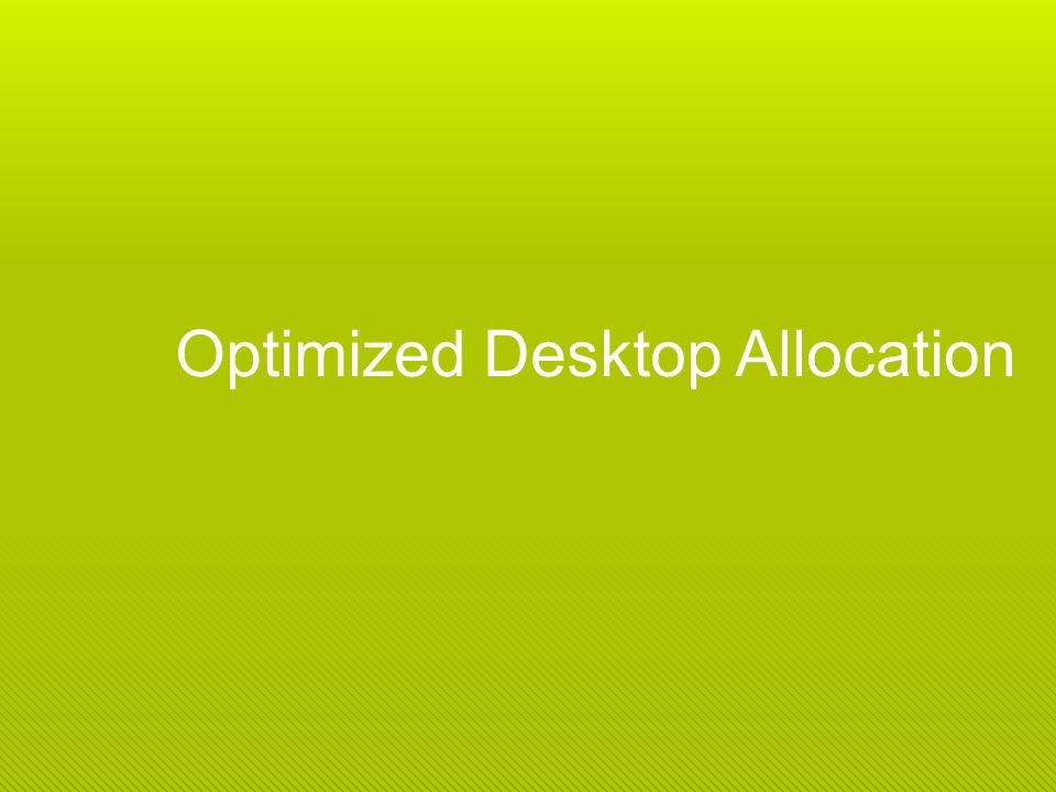 Optimized Desktop Allocation