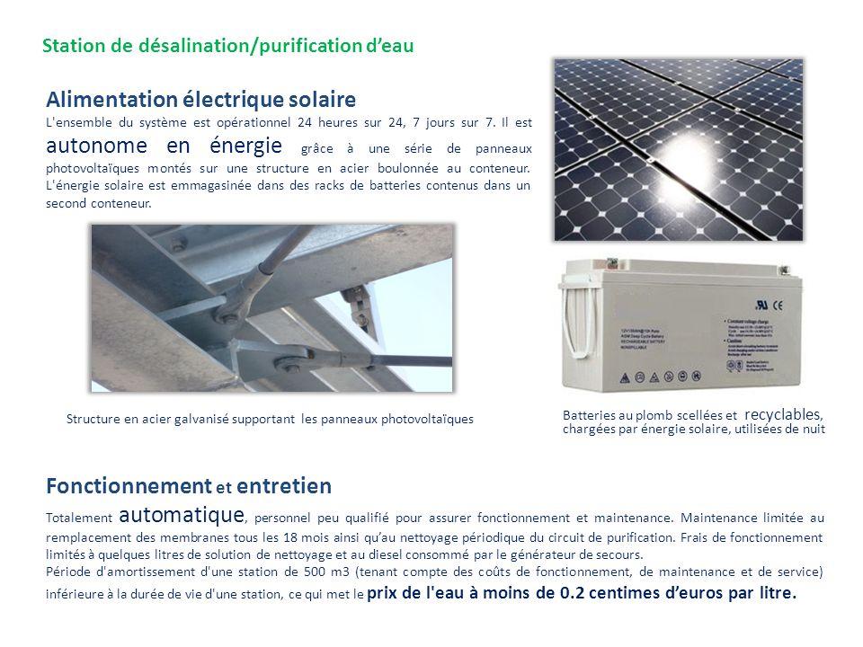 Batteries au plomb scellées et recyclables, chargées par énergie solaire, utilisées de nuit Alimentation électrique solaire L'ensemble du système est