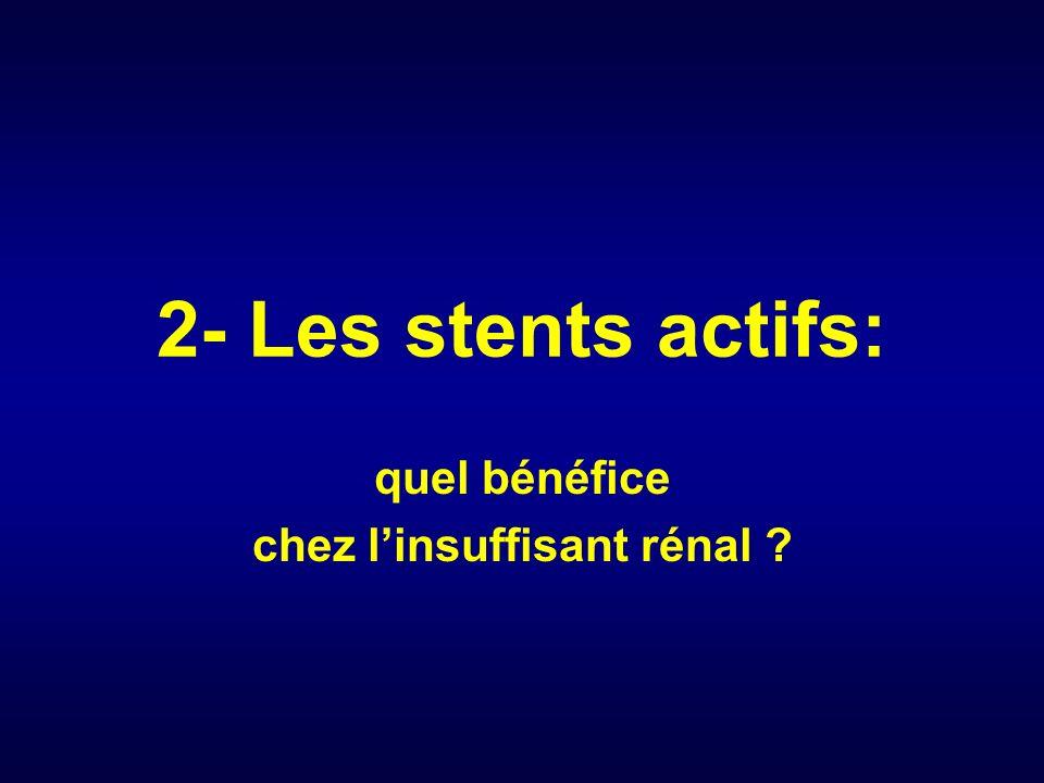 2- Les stents actifs: quel bénéfice chez linsuffisant rénal ?