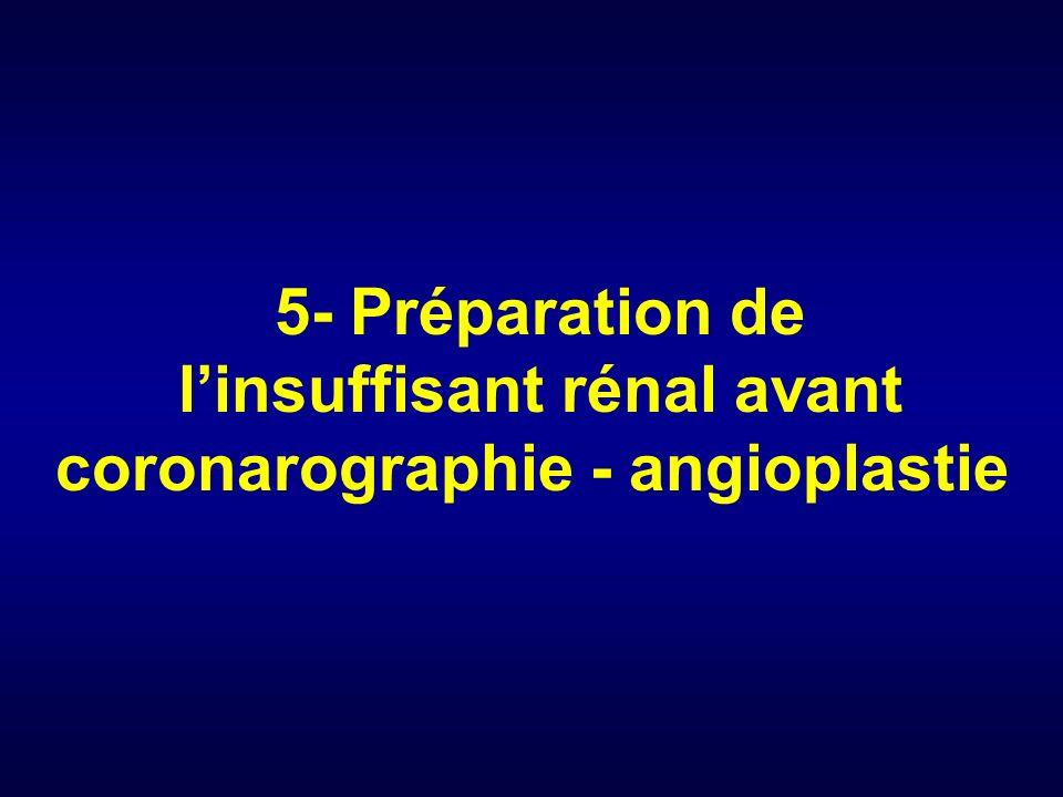 5- Préparation de linsuffisant rénal avant coronarographie - angioplastie