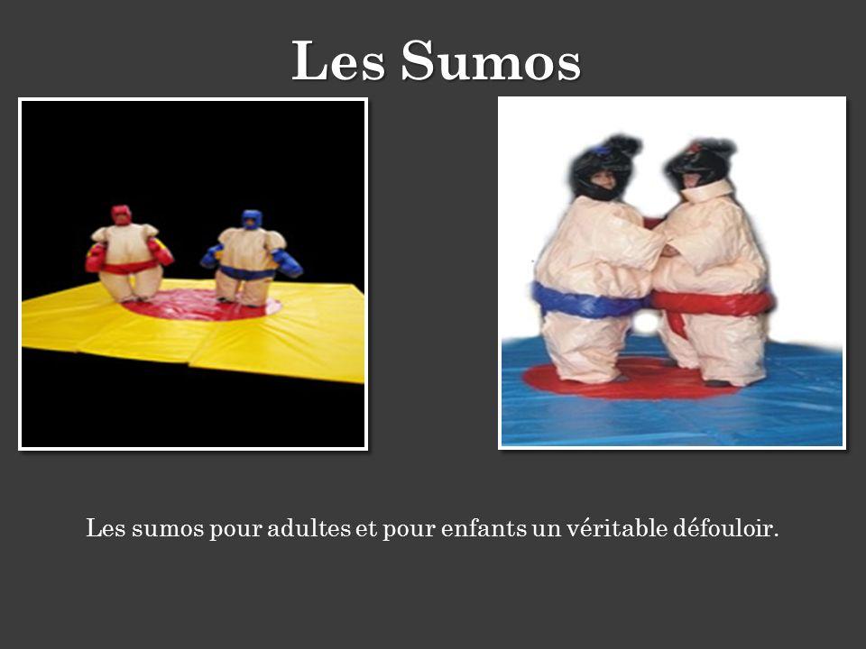 Les sumos pour adultes et pour enfants un véritable défouloir. Les Sumos