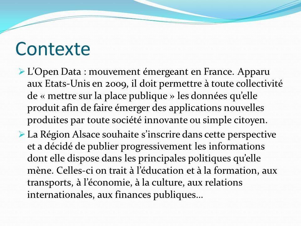Contexte LOpen Data : mouvement émergeant en France.
