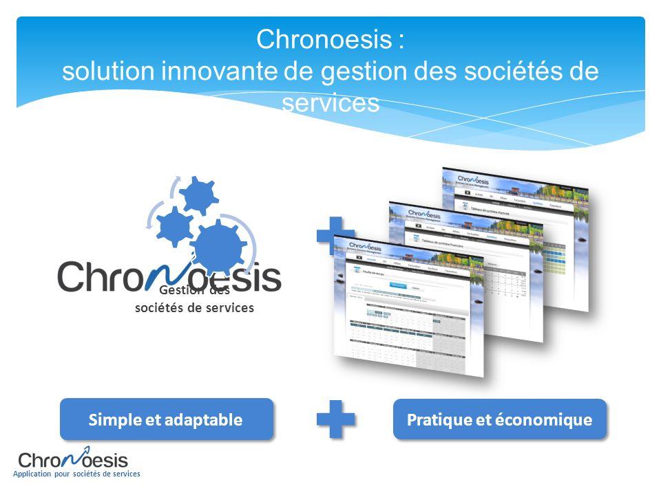 Application pour sociétés de services Chronoesis : solution innovante de gestion des sociétés de services Cloud Gestion des sociétés de services Simpl