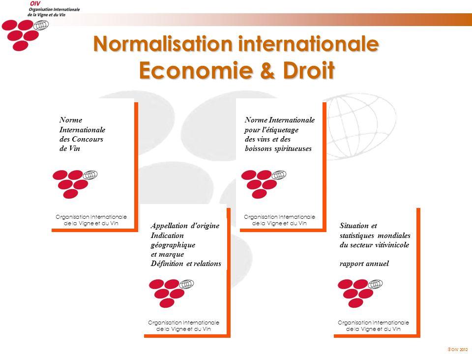 OIV 2012 Norme Internationale pour l'étiquetage des vins et des boissons spiritueuses Organisation Internationale de la Vigne et du Vin Appellation d'