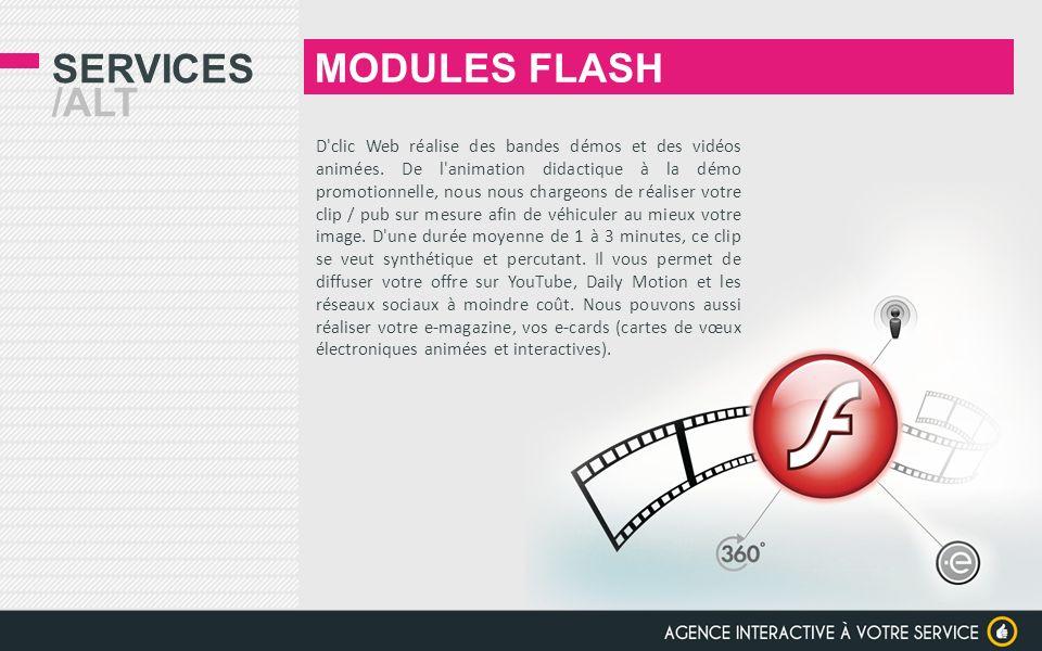 SERVICES /ALT Spécialistes de l animation Flash, nous réalisons vos campagnes de pub - kit bannières et e-mailing au formats IAB.