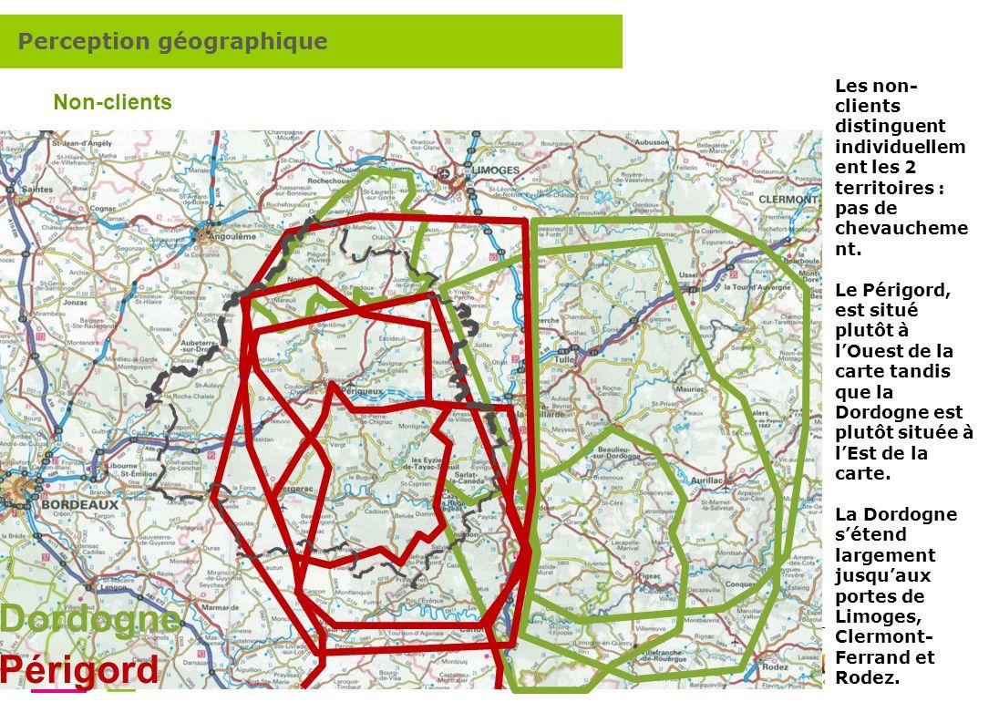 Comment renforcer lattractivité touristique de la destination Dordogne Périgord ? 6 Dordogne Périgord Non-clients Les non- clients distinguent individ