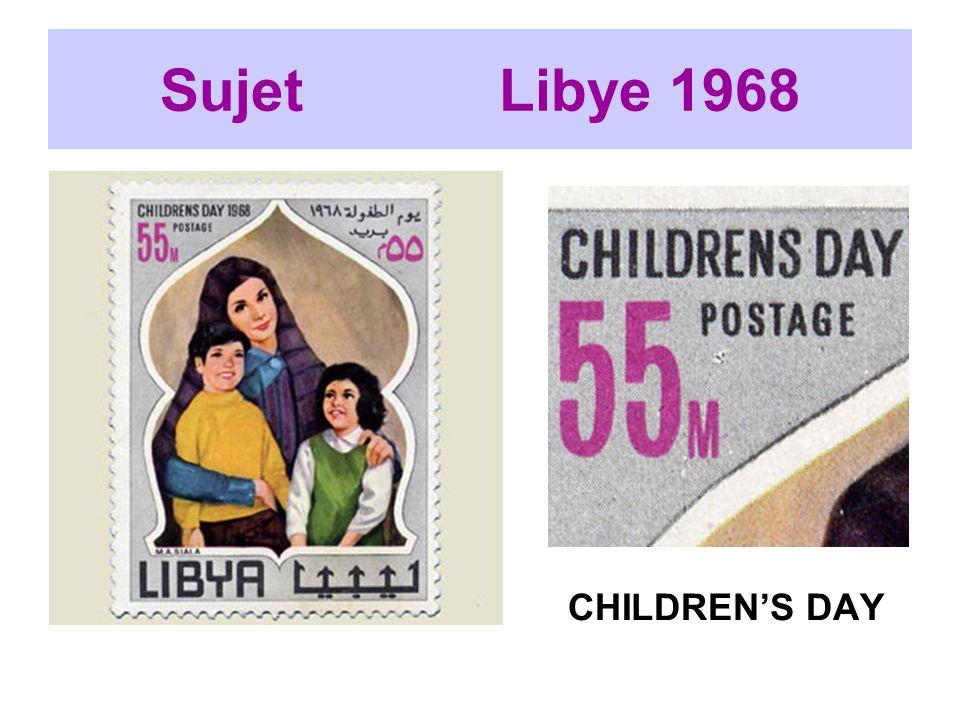 Sujet Libye 1968 CHILDRENS DAY